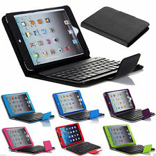 Stand PU Leather Case Cover With Removable Bluetooth Keyboard For iPad Mini 1234