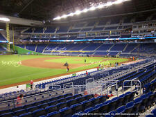 1-4 Milwaukee Brewers @ Miami Marlins 2017 Tickets 9/15/17 Sec 24, Row 1!
