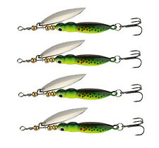 4PCS Spinner Baits 15g/9cm Fishing Lures Spinnerbait Trout Metal Spoon Fishing