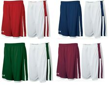 Under Armour mens Undeniable reversible Basketball Shorts  red / White xl