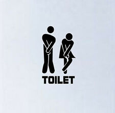 Toilet Decal Office Cafe Hotel   Vinyl New Funny Sticker Home Shop Entrance Sign