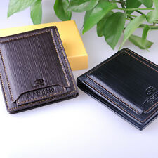 Men's Bifold leather Wallet Pockets ID credit Card holder Clutch money purse