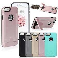 Rugged Hybrid Hard Case Cover Plug-in Card Stand for Apple iPhone 6/6S Plus 5.5