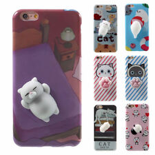 Squishy 3D Soft Silicone Cat Panda Rabbit Phone Case Cover for iPhone 6/6s/7Plus