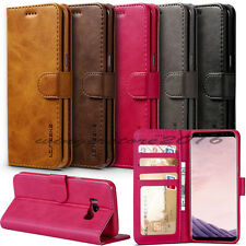 Luxury Flip PU Leather Holster Stand Wallet Card Purse Case For iPhone Samsung