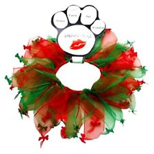 Mirage Pets Christmas Bones Smoocher for Pets - Red and Green (SM-MD-LG-XL)