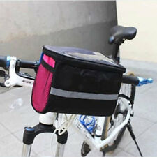 Bicycle Bike Cycling Front Basket Frame Pannier Tube Handlebar Rack Bag Pouch