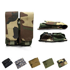 Tactical Molle Clip Double Mag Magazine Pouch Bag Pistol Magazine Pouch FOR USGI
