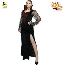 Adult's Devil Girl Luxury Witch Costume For Halloween Vampire Red Fancy Dress