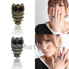 Realistic Adjustable Owl Antique Big Eyes Finger Ring Fashion Costume Jewelry