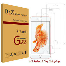 3x Clear LCD Tempered Glass Screen Protector Film Cover For Apple iPhone 6/6s/7