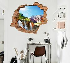 3D Mountain Sun 766Wall Murals Stickers Decal breakthrough AJ WALLPAPER AU Lemon