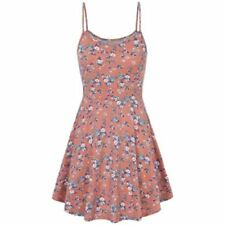 Floral Printed Spaghetti Strap Sleeveless Casual Knee Length Dress For Women
