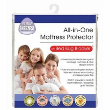 NEW All In One Mattress Protector with Bed Bug Blocker