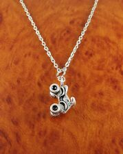 ATV necklace motorcycle charm pendant - choose chain or adjustable black cord
