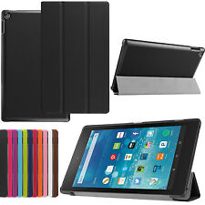 PU Leather Folio Case Smart Cover Folio Stand for Amazon Kindle Fire 8 10 2015