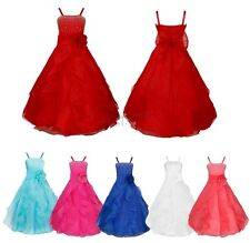 Flower Girl Princess Tutu Dress Kids Party Prom Wedding Bridesmaid Pageant Gown