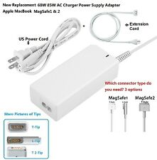 New 60W 85W AC Charger Power Supply Adapter Apple MacBook Pro1& 2+Extension cord