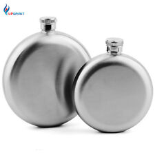 5oz/8oz Delicate Round Stainless Steel Hip Flask Alcohol Portable Pocket Flagon