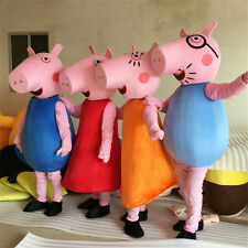 Best High Quality New PEPPA PIG Family Mascot Costume Adult Free Shipping!
