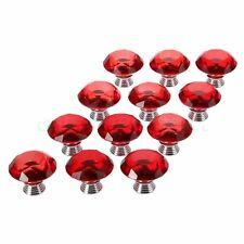 Red Knobs Crystal Diamond Glass Pull Cupboard Closet Cabinet Box Handle 30mm