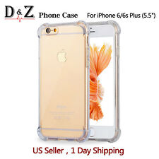 DZ For iPhone 6 Plus Case Silicone Clear Cover Bumper Rubber Protective Soft TPU