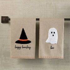Mud Pie MH6 Halloween Kitchen, Bath French Knot Witch Hat Or Ghost Towel 4404203