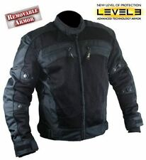 NWT Xelement Men's CF380 TriTex Mesh Black Level-3 Armored Motorcycle Jacket