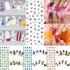 1 Sheet Flower Water Transfer Decals Nail Art Stickers Tip DIY Manicure Tool Pro