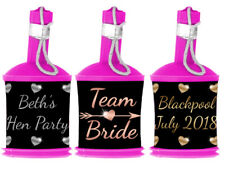 * Personalised BRIDE TRIBE Party Popper WRAPPERS ONLY - Hen Night Do - Rose Gold