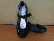 New Girl's WonderKids Kailey Mary Jane School Uniform Casual Shoes Black 40T