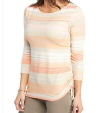 RUBY RD. WOMEN PLUS SIZE 1X 2X 3X STRIPED 3/4 SLEEVE TOP SHIRT BLOUSE TUNIC NEW