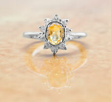 925 Sterling Silver Ring with Yellow Citrine Natural Gemstone Handmade eBay.