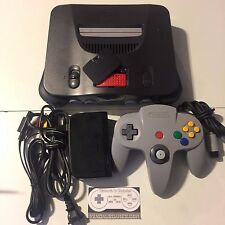 N64 Nintendo 64 Charcoal Grey Console Only + Expansion pak and complete OPTIONS*