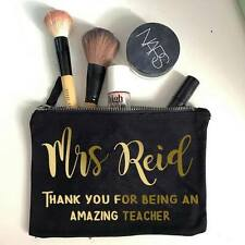 Personalised Thank You Teacher Make Up Bag / Pencil Case