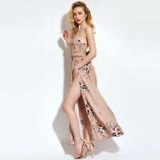 Spring Summer Sleeveless Pleated Patchwork Print Maxi Dress For Women