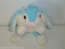 salco harlow Blue and White Bunny Rabbit Soft Toy Collectable Stuffed Animal