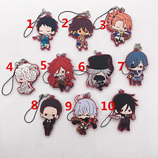 T418 Hot Japan anime Black Butler rubber Keychain Key Ring Rare cosplay A