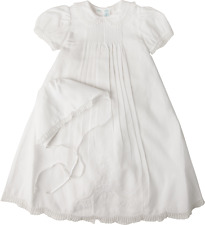 Feltman Brothers Girls Christening Gown White Batiste Lace NWT NB/3m 6/9m 9/12m