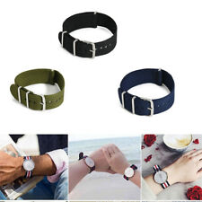 Unisex Infantry Military Army Fabric Nylon Buckle Wrist Watch Band Strap 18-22mm