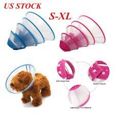 Pet Dog Cat Elizabethan Bite-Proof Collar Wound Healing Cone Protective Safety