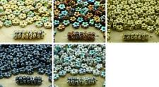 80pcs Metallic Small Flat Forget-Me-Not Flower Spacer Bead Caps Czech Glass Bead