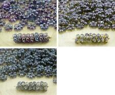 80pcs Crystal Small Flat Forget-Me-Not Flower Spacer Bead Caps Czech Glass Beads