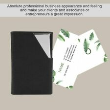 Business ID Credit Card Holder Stainless Steel & PU Leather Thin Card Case XP