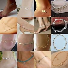 Charm Ankle Bracelet Women 925 Sterling Silver Anklet Foot Jewelry Chain Beach