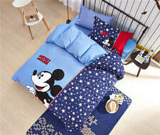 NEW Mickey Mouse Printed Comforter Bedding Set Egyptian Cotton Woven