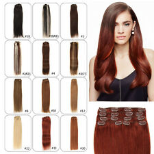 "100g Full Head Straight Wave Clip in Remy 100% Human Hair Extension 14""-24"""