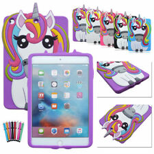 3D Cartoon Horse Tablet Back Silicone Cases For Apple Mini iPad 2/3/4/6 9.7 2017