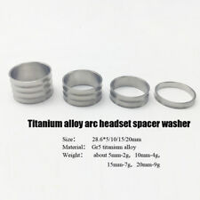 1 set Titanium Bicycle Arc Headset Stem Spacers 5/10/15/20mm Stem Washers