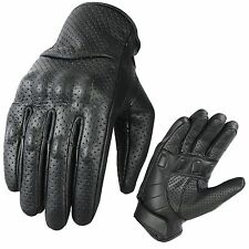 Leather Motorbike Gloves Street Racing Motorcycle Knuckle Shell Protection XL